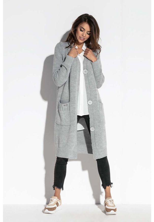 Szary sweter Fobya długi