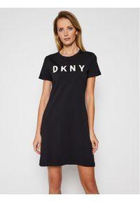 Czarna sukienka letnia DKNY prosta, casualowa, na co dzień