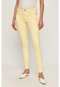 Żółte spodnie materiałowe Guess