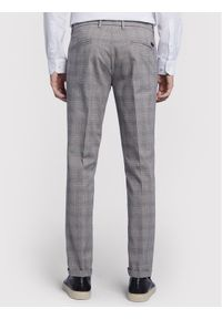 Vistula Spodnie materiałowe Alain Chequered XA1225 Szary Slim Fit. Kolor: szary. Materiał: materiał
