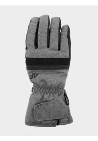 4f - Rękawice narciarskie męskie. Kolor: szary. Materiał: materiał, syntetyk. Technologia: Thinsulate. Sport: narciarstwo