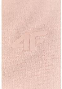Różowa bluza rozpinana 4f z kapturem, melanż