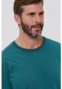 United Colors of Benetton - Longsleeve bawełniany. Okazja: na co dzień. Kolor: zielony. Materiał: bawełna. Długość rękawa: długi rękaw. Styl: casual