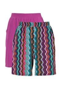 Cellbes Wzorzyste szorty z dżerseju 2 Pack kolorowy Fioletowy female ze wzorem/fioletowy 34/36. Kolor: fioletowy. Materiał: jersey. Wzór: kolorowy