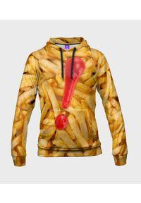 MegaKoszulki - Bluza damska fullprint z kapturem Frytki z ketchupem. Typ kołnierza: kaptur. Materiał: dresówka, dzianina