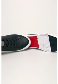 Niebieskie sneakersy TOMMY HILFIGER na sznurówki, z okrągłym noskiem