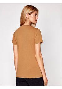 Samsoe & Samsoe - Samsøe Samsøe T-Shirt Solly Tee Solid 205 F00012050 Brązowy Regular Fit. Kolor: brązowy