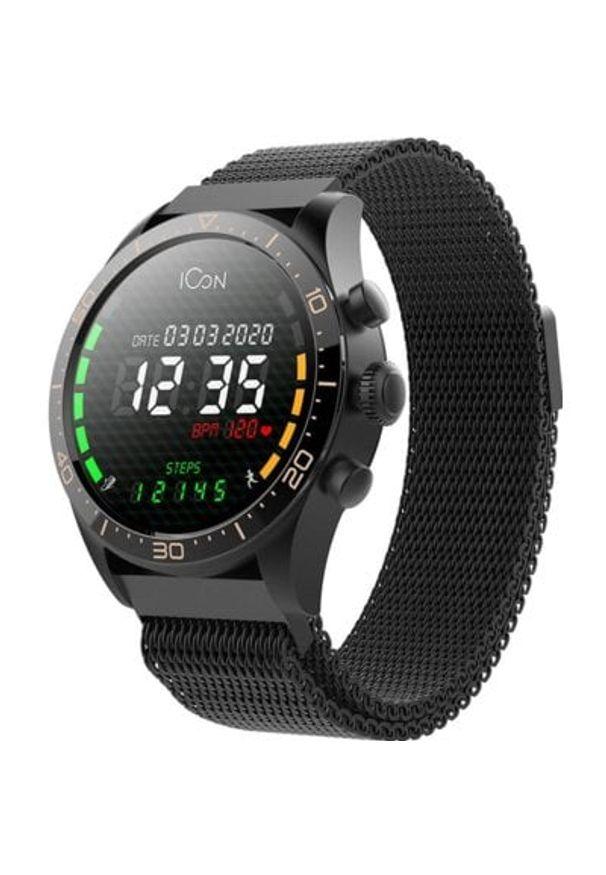 Czarny zegarek FOREVER smartwatch, casualowy