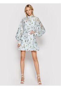 Custommade Sukienka koktajlowa Lynn 212323407 Niebieski Regular Fit. Kolor: niebieski. Styl: wizytowy