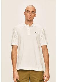 Biała koszulka polo Lacoste polo, casualowa, na co dzień