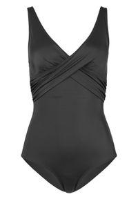 Kostium kąpielowy, przyjazny dla środowiska bonprix czarny. Kolor: czarny