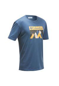 Koszulka turystyczna columbia z krótkim rękawem, krótka
