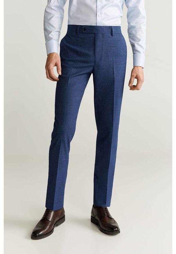 Turkusowe spodnie Mango Man