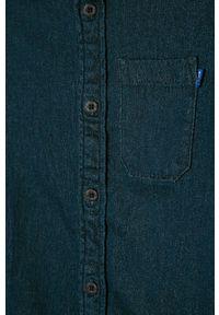 Niebieska koszula Jack & Jones casualowa, z klasycznym kołnierzykiem, na co dzień #3