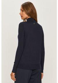 Niebieski sweter Hugo casualowy, z długim rękawem, na co dzień, długi