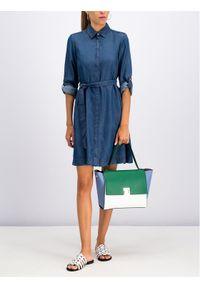 Niebieska sukienka koszulowa Pennyblack