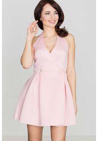 Różowa sukienka wizytowa Katrus