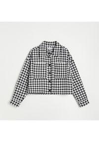 Reserved - Koszula w pepitkę - Czarny. Kolor: czarny