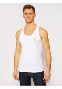 VERSACE - Versace Tank top Medusa AUU01012 Biały Regular Fit. Kolor: biały