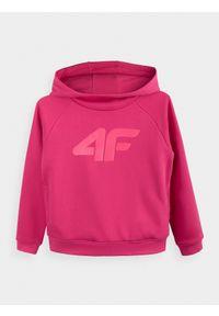Różowa bluza 4f z kapturem, casualowa