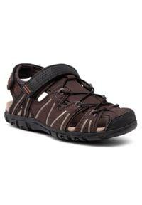 Geox Sandały U S.Strada A U1524A 0AU50 C6238 Brązowy. Kolor: brązowy
