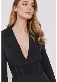 BARDOT - Bardot - Sukienka. Okazja: na co dzień. Kolor: czarny. Długość rękawa: długi rękaw. Typ sukienki: proste. Styl: casual