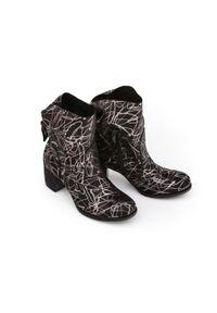 Srebrne botki Zapato na klamry, na co dzień