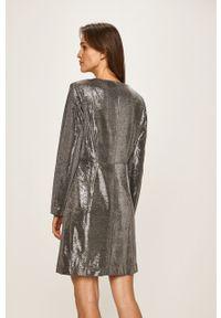 Srebrna sukienka Vila midi, dopasowana #5
