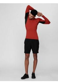 4f - Spodenki treningowe męskie. Kolor: czarny. Materiał: włókno, dzianina
