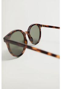 Brązowe okulary przeciwsłoneczne mango okrągłe