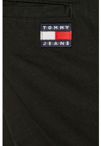 Czarne spodnie Tommy Jeans gładkie, casualowe, na co dzień
