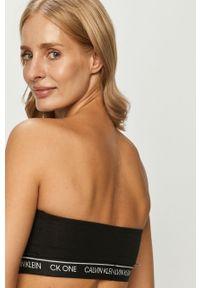Czarny biustonosz Calvin Klein Underwear z nadrukiem