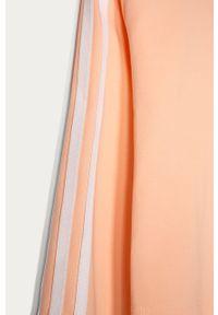 Różowa bluzka z długim rękawem adidas Originals casualowa, na co dzień, długa