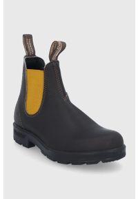 Blundstone - Sztyblety skórzane 1919. Nosek buta: okrągły. Kolor: czarny. Materiał: skóra. Obcas: na obcasie. Wysokość obcasa: niski