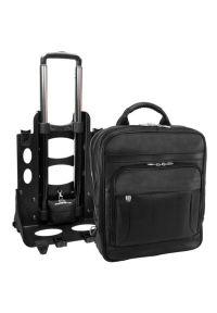 Plecak na laptopa MCKLEIN Wicker Park 15.6 cali Czarny. Kolor: czarny. Materiał: skóra. Styl: biznesowy, elegancki #2