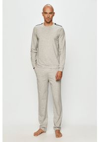Szare spodnie dresowe Moschino Underwear z nadrukiem