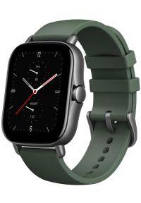 Zielony zegarek AMAZFIT elegancki, smartwatch