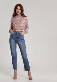 Renee - Jasnoniebieskie Jeansy Boliete. Kolor: niebieski. Materiał: jeans