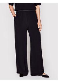 Samsoe & Samsoe - Samsøe Samsøe Spodnie materiałowe Nessie F16304320 Czarny Regular Fit. Kolor: czarny. Materiał: materiał