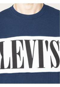 Levi's® Bluza Logo Colorblock Crew 85648-0000 Granatowy Regular Fit. Kolor: niebieski