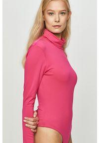 Różowa bluzka z długim rękawem Reebok Classic z golfem, casualowa, na co dzień