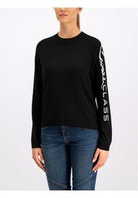 Czarny sweter klasyczny Cavalli Class