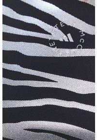 Adidas by Stella McCartney - adidas by Stella McCartney - Top. Kolor: czarny. Materiał: dzianina, materiał