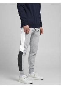 Jack & Jones - Jack&Jones Spodnie dresowe Will 12197199 Szary Regular Fit. Kolor: szary. Materiał: dresówka