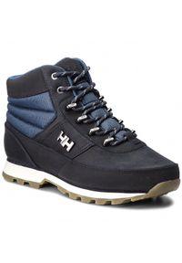 Niebieskie buty trekkingowe Helly Hansen na jesień, na spacer