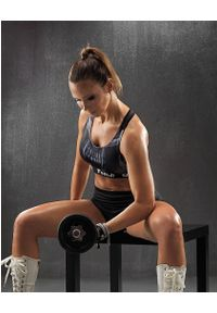 FJ! - Stanik Sportowy SKULL. Materiał: żakard, dzianina, elastan, guma, poliester. Sport: fitness, bieganie
