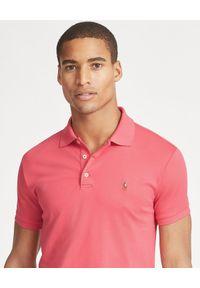 Ralph Lauren - RALPH LAUREN - Koszulka Polo Slim Fit. Typ kołnierza: polo. Kolor: czerwony. Materiał: bawełna. Wzór: haft. Styl: klasyczny