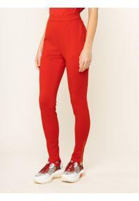 Czerwone spodnie materiałowe Escada Sport sportowe