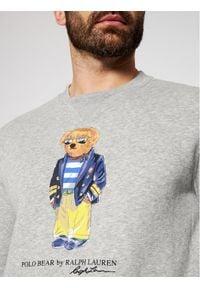 Polo Ralph Lauren Bluza Magic Fleece 710835784002 Szary Regular Fit. Typ kołnierza: polo. Kolor: szary