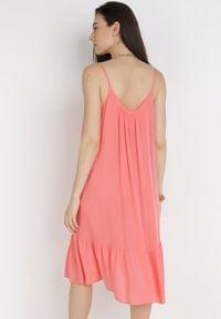 Born2be - Koralowa Sukienka Amycophe. Kolor: pomarańczowy